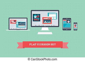 Diseño de interfaz plano