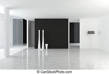 Diseño de interior moderno de B+W