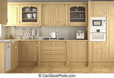 Diseño de interiores cocina clásica