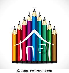 Diseño de lápices de colores