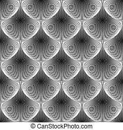 Diseño de líneas geométricas sin color. Trasfondo de textura abstracto. Arte vector