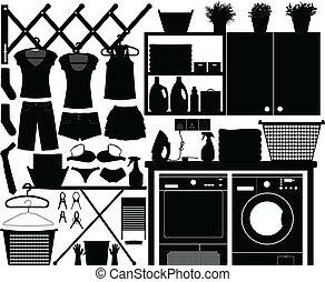 Diseño de lavandería fijado