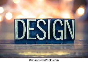 Diseño de letras de metal