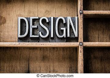 Diseño de letras tipo cajón