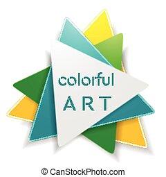 Diseño de logo de triángulo brillante