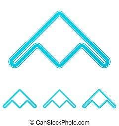 Diseño de logotipo de bombardero Cyan