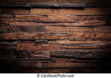 Diseño de madera oscura