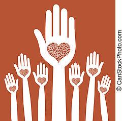 Diseño de manos amorosas.