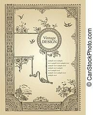 Diseño de marcos antiguos (vector)