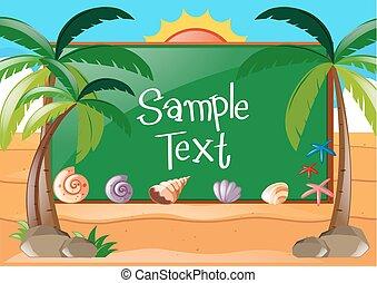 Diseño de marcos con tema de playa