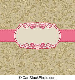 Diseño de marcos para tarjeta de felicitación.
