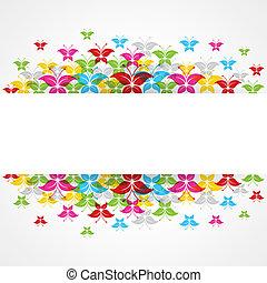 Diseño de mariposas abstracto