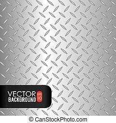 Diseño de metal, ilustración vectorial.