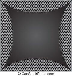 Diseño de metales abstracto. Ilustración de vectores