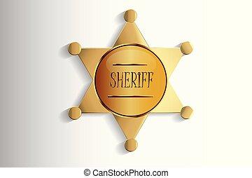 Diseño de placas del sheriff