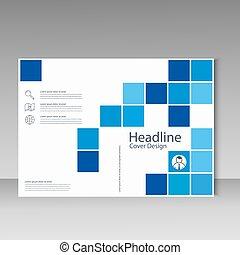 Diseño de plantilla de folleto abstracto con cuadrados