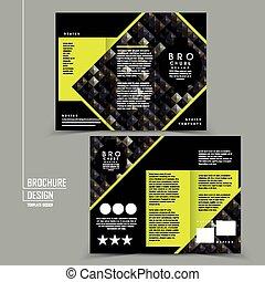 Diseño de plantilla de folletos de tri-pliegue lujoso