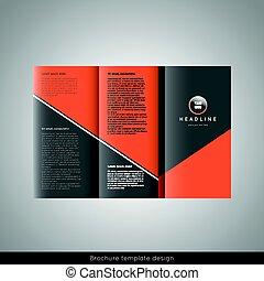 Diseño de plantilla de folletos triple