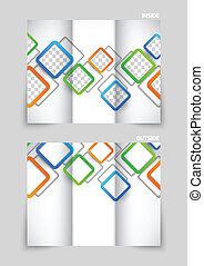 Diseño de plantilla tri-pliegado