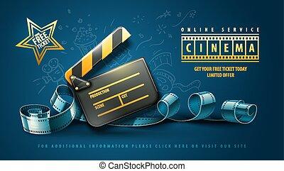Diseño de posters de cine en línea