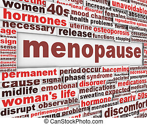 Diseño de posters de la menopausia