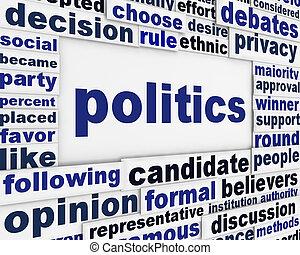 Diseño de posters de política