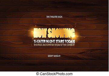 Diseño de posters del estreno del teatro