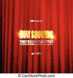 Diseño de posters del estreno del teatro.