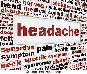 Diseño de posters médicos de dolor de cabeza