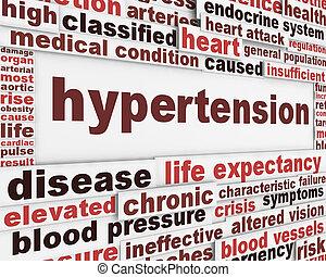 Diseño de posters médicos de hipertensión