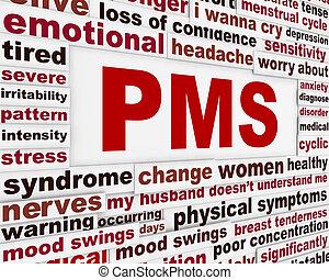 Diseño de posters médicos del PMS