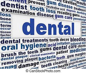 Diseño de posters médicos dentales