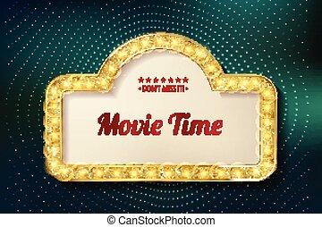 Diseño de posters para el estreno del cine.
