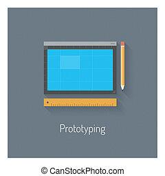 Diseño de prototipos planos