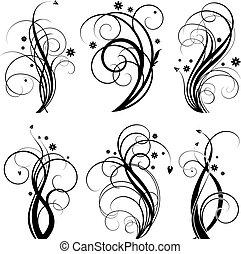Diseño de remolinos negro