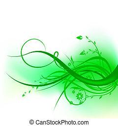 Diseño de remolinos verdes