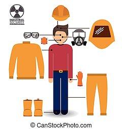 Diseño de seguridad, ilustración vectorial.