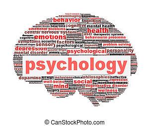 Diseño de sicología aislado en blanco