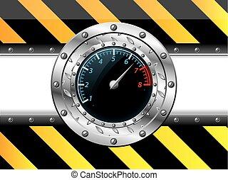 Diseño de tablómetro con elementos industriales