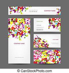 Diseño de tarjetas de negocios abstractas y creativas