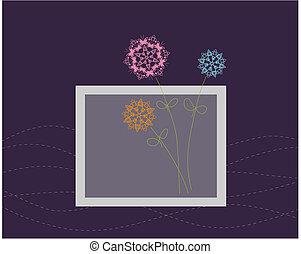 Diseño de tarjetas florales