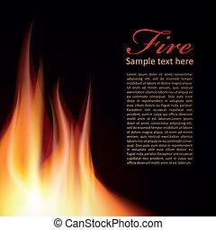 Diseño de textos de fondo de fuego