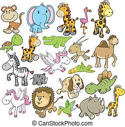 Diseño de vectores de animales salvajes
