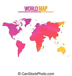 Diseño de vectores de mapas del mundo colorido