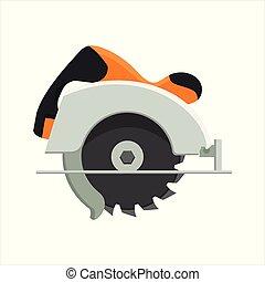 Diseño de vectores de sierra circular manual