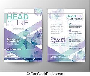 Diseño de vectores de vector de polígono abstracto diseño de diseño para folletos de folletos de folletos anuales