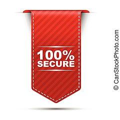 Diseño de vectores rojos 100% seguro