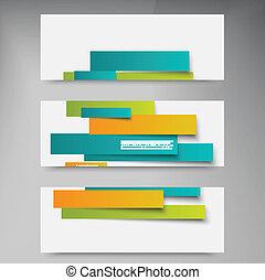 Diseño de vectores. Tarjeta de folleto abstracto