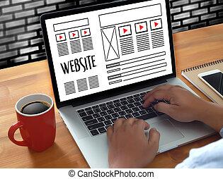 Diseño de webs dibujando programas de software WWWW y proyecto de desarrollo de páginas gráficas