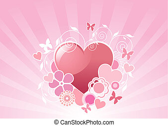 Diseño del corazón de Valentine